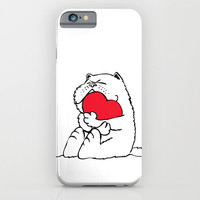 Persian Cat Heart iPhone & iPod Case by Huebucket