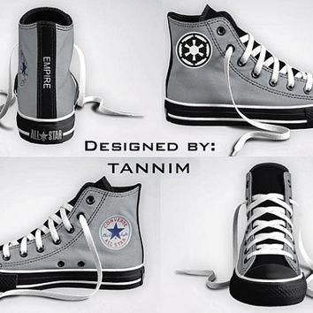 Custom Star Wars Galactic Empire/Imperial Converse by Tannim