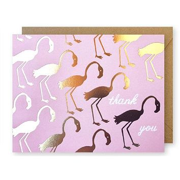 Gold Flamingos Thank You