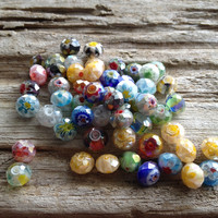 Colored Faceted Glass Beads
