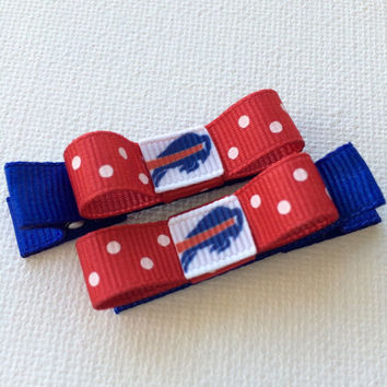 Buffalo Bills hair clips - baby hair clips - toddler hair clips