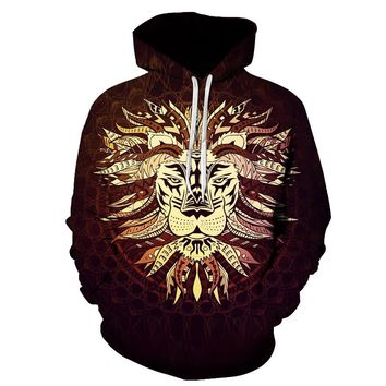 Tribal Chiefs Lion King Pullover Hoodie