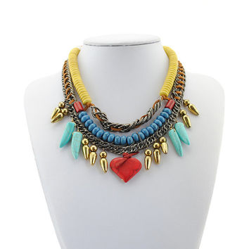 High quality statement necklace jewelry layers necklace choker necklace necklace bib necklace cluster necklace women necklace prom jewelry