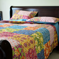 Tache 3  Piece Floral Spring Lakeside Garden Bedspread Set, California King