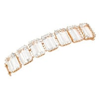 Rose Gold & Emerald Cut Rock Crystal Bracelet by Ivanka Trump at Gilt