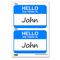 John Hello My Name Is - Sheet of 2 Stickers
