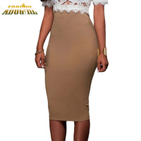 Women Pencil Skirt Fashion Elegant Casual Slim Fit Zipped Bodycon Skirts Women