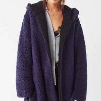 Silence + Noise Magnolia Cozy Reversible Coat   Urban Outfitters