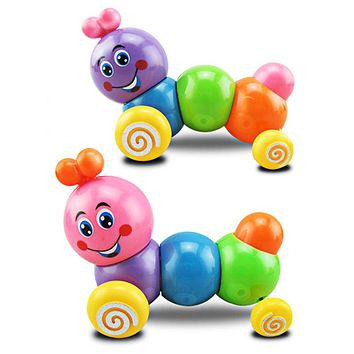 Kids Toys Colorful Caterpillar Wind-up Toys Plastic Cute Animals Baby Doll Children Developmental Educational Toy