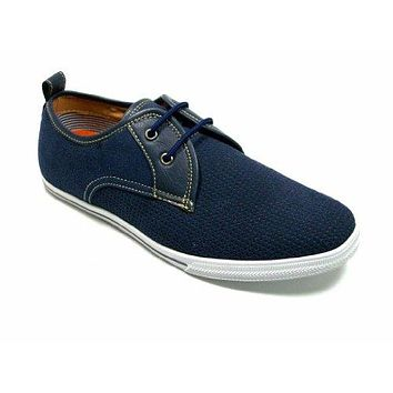 Men's 3019S Blue 2 Eye Lace Up Mocassin Casual Sneaker Shoes