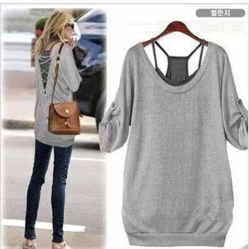 Plus Size Women's Fashion Summer Round-neck T-shirts [6339006145]