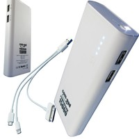 COM-PADtrade; Power-Bank 15000 Cell-Phone Mobile Battery Charger USB - External Backup Power for iPhone 5S, 5C, 5, 4S, 4, 3GS, 3, Samsung Galaxy S2, S3, S4, Android Smart Phones, Cell Phones, Tablets, iPad, Ipad Mini, Nexus 7, Nexus 10, Google Glass, Camco
