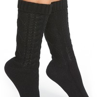 kensie Cable Knit Slipper Socks | Nordstrom