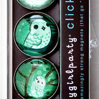 New Snowy Owl Magnet Set