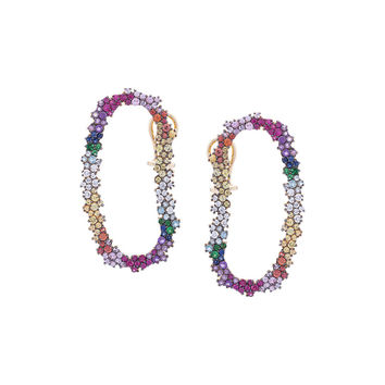 Ana Khouri Crystal Embellished Earrings - Multicolor 18kt Gold Earrings