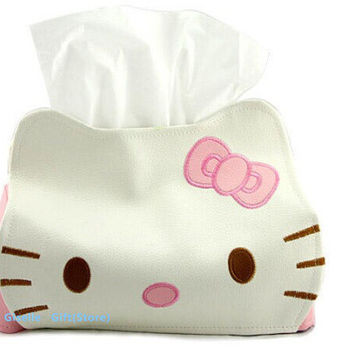 Length 23CM PU Hello KITTY Cosmetics BAG Cute Makeup BAG Container ; Cosmetics Papers BAG Holder Bag Case Pouch