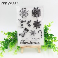 YPP CRAFT Christmas Gifts Clear Silicone Rubber Stamp for DIY scrapbooking/photo album Decorative craft