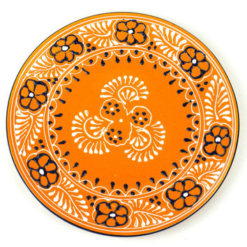 Handcrafted Ceramic Mango Round Plate