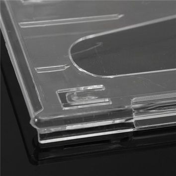 1PC 3 Hard Plastic Horizontal Card Holder Transparent Clear Badge ID Cover