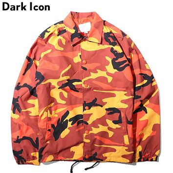 Camouflage Turn-down Collar Men's Jacket  Autumn Thin Style Multi Como Jackets Men 8 Colors