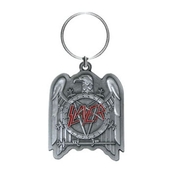 Slayer Metal Key Chain Silver