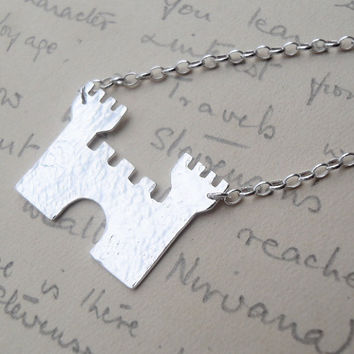 Silver Castle Necklace Ready to Ship by SarahBirtJewellery on Etsy