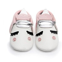 Unicorn moccasins for baby