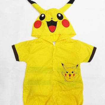 6 months- 7years Party Kids Comic Marvel pokemon GO Halloween Costume,boy Minions roll play clothing / Pikachu Bodysuits
