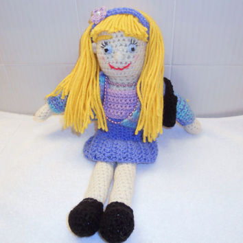 Crochet Dress Up Doll by thecrafter on Etsy