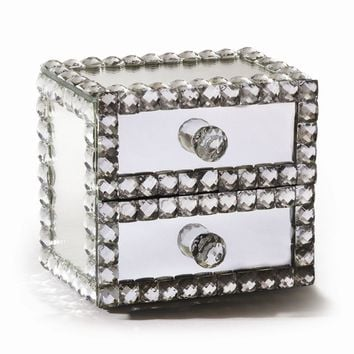 Mirror 2 Drawer Jewelry Box