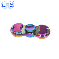 Colorful Creative Funny Metal Two-Spinner Fidget Toy Metal EDC Hand Spinner Rotation Time Long Anti Stress Toys Child Gift