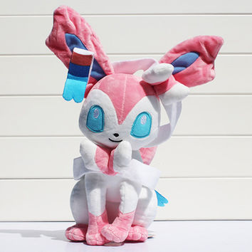 1Pcs 30cm Pokemon Eevee Plush Sylveon Plush Toys Stuffed Soft Dolls Great Gifts