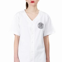 DKNY FOR OPENING CEREMONY DKNY TOKEN LOGO BASEBALL SHIRT - WOMEN - DKNY FOR OPENING CEREMONY