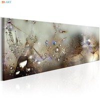 Water Drops and Dandelions Prints Poster Wall Art Canvas Painting Nursery Picture for Living Room Home Decor