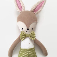 Deer Cloth Doll - Customizable for Girl/Boy, Rag Doll, Fabric Doll, Doll Clothes, Easter Basket, Easter