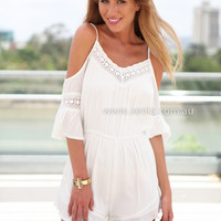 PRE ORDER - BOHEMIAN PLAYSUIT (Expected Delivery 8th January, 2015) , DRESSES, TOPS, BOTTOMS, JACKETS & JUMPERS, ACCESSORIES, $10 SPRING SALE, PRE ORDER, NEW ARRIVALS, PLAYSUIT, GIFT VOUCHER, $30 AND UNDER SALE, SWIMWEAR,,White,JUMPSUIT Australia, Queensla