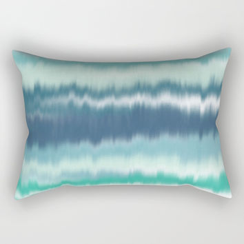 Ocean Soundwaves Rectangular Pillow by Inspire Your Art