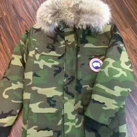Canada Goose Long Jacket Army Green| Best Deal Online
