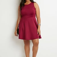 Scuba Knit Fit & Flare Dress