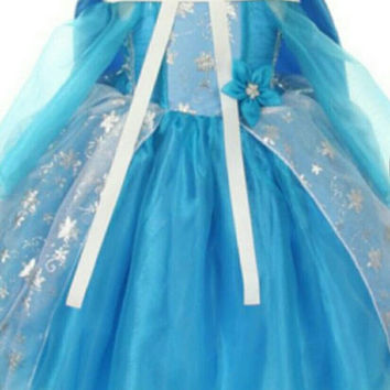 SALE. 4 days only. Elsa from Frozen inspired princess costume  Great for Birthday parties, Halloween or dress up. Only a few left.