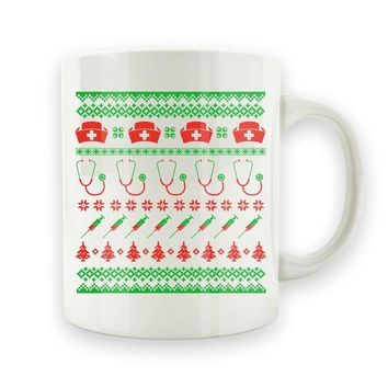 DCCK Nurse Ugly Christmas Sweater - 15oz Mug