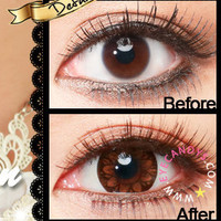 GEO Coco Eye Brown Circle Lenses Colored Contacts Cosmetic Color Circle Lens
