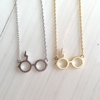 Scar Glasses Necklace