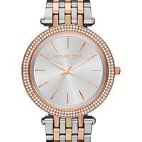 Michael Kors Darci Tri-Tone Stainless Steel Ladies Crystal Watch