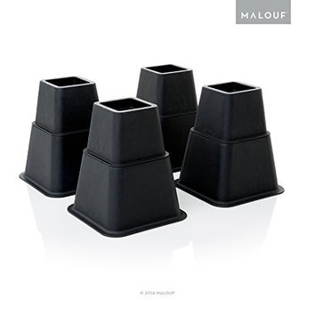 STRUCTURES Heavy Duty Multi Height Bed Risers - 8 Piece Set - Adjustable to 8, 5 or 3 Inch Heights