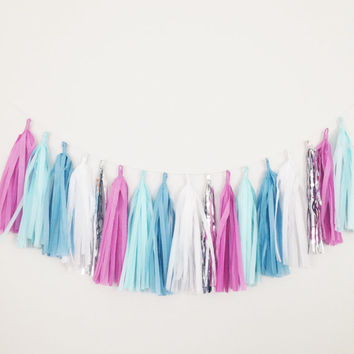 Frozen Theme Birthday Tassel Garland Decoration - Disney Frozen Birthday, Disney Princess Decor, Party Decor, Birthday Party, Baby Shower