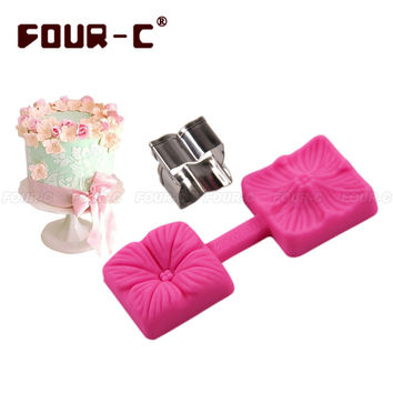 Hydrangea Cutter & Mould Set cupcake flower silicone cake mold fondant gumpaste 3D mould cake decorating tools christmas mould