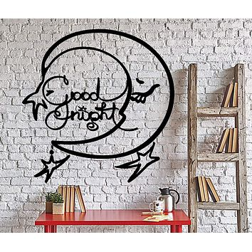 Wall Vinyl Decal Good Night Nursery Room Kids Children Home Interior Decor Unique Gift z4364