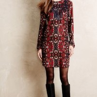 Somer Embroidered Tunic by Anthropologie Red Motif