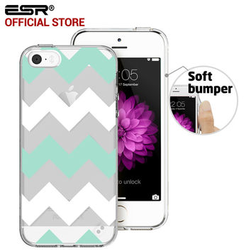 ESR One Piece Hybrid Case Ultra Slim Fit Soft TPU Hard Back Cover Protective Case iPhone 5s/5/5se